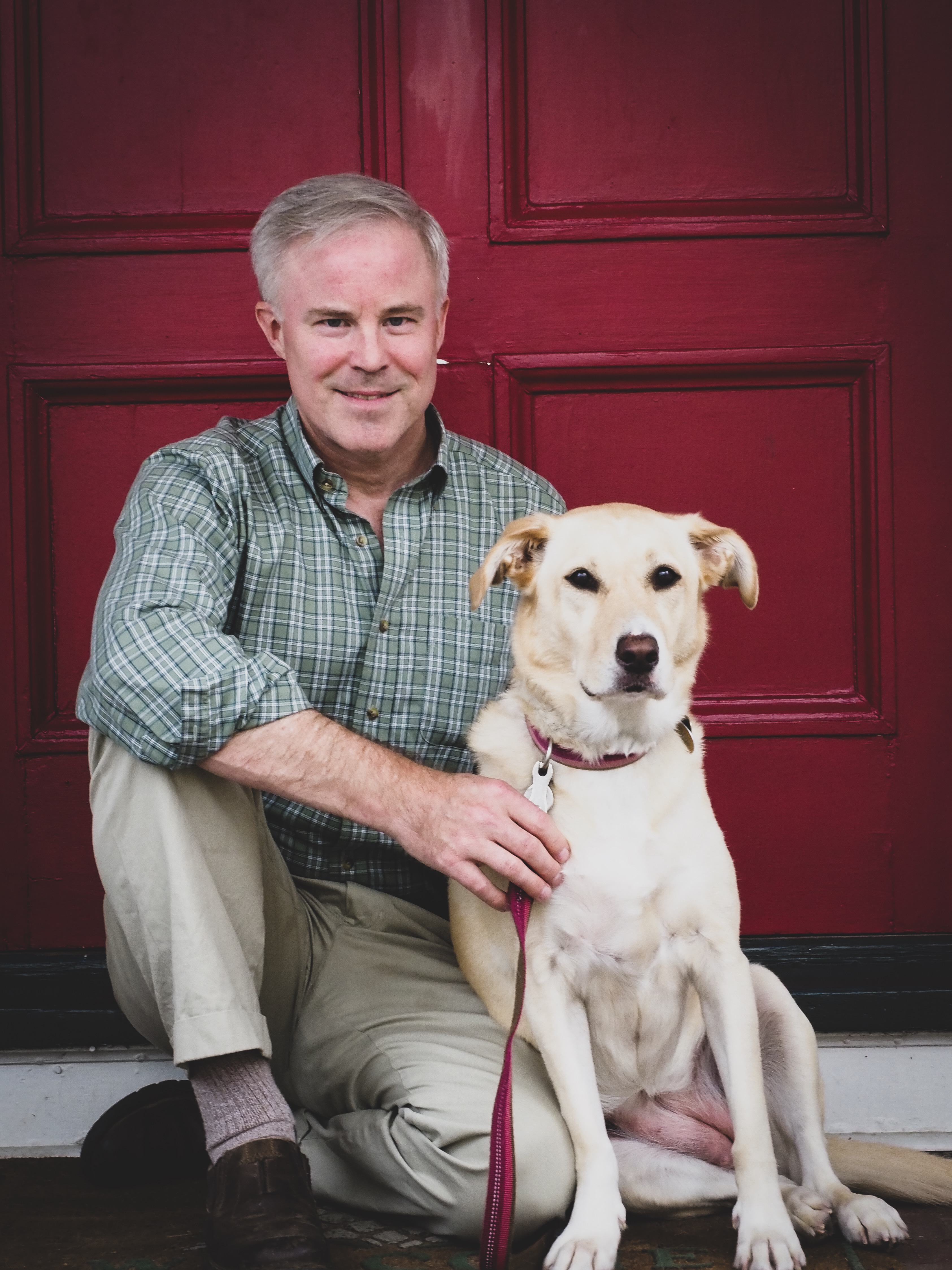 cressman with dog headshot